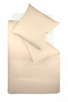 fleuresse Bettwäsche - colours Maco Satin Uni Fb. 2043 beige